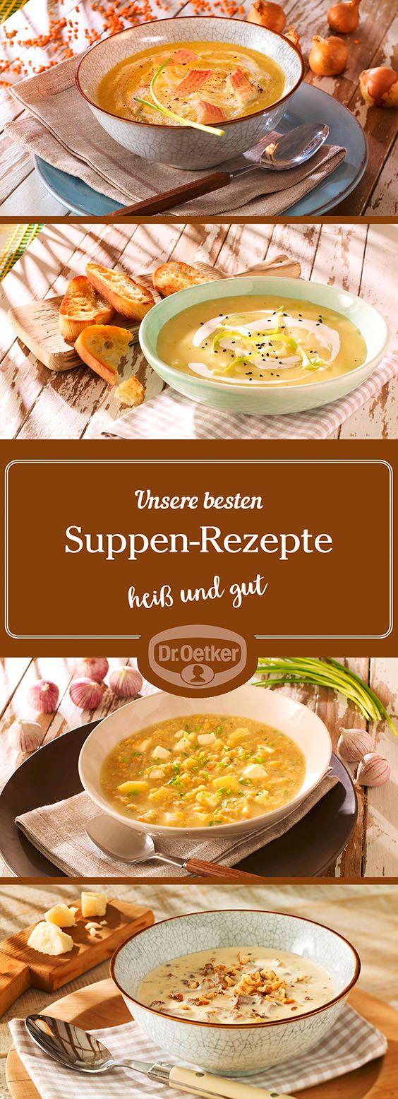 Lassen Sie sich von der großen Auswahl an Suppen-Rezepten, die von der Dr. Oetker Versuchsküche entwickelt wurden, inspirieren.