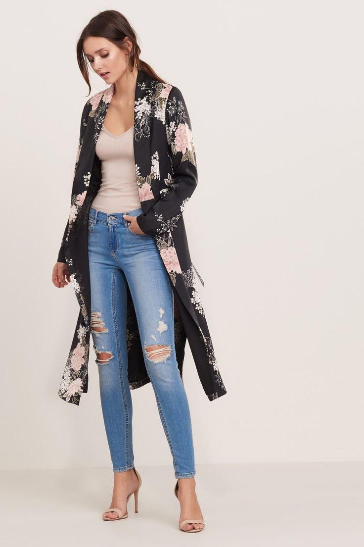Slip into style Floral Maxi Kimono with Slits