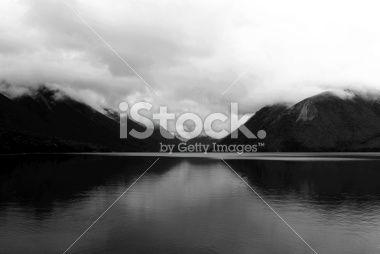 Cloudy Day on Lake Rotoiti, Nelson Lakes National Park, NZ Royalty Free Stock Photo