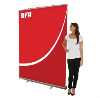 "Retractor 10 Banner Stand by Mega Digital Imaging  at:- http://www.megaimaging.com/Blog/Retractor+10+Banner+Stand#tab-description  Product Classification:- Inexpensive and quick to assemble, this banner stand is the perfect solution for a steady, on the go display that makes a serious impact.  Display Dimensions 60""w x 14.5""d x 82.25""h 1524mm w x 368.3mm d x 2089.15mm h"
