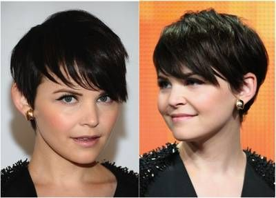 Short haircuts are tricky on round faces because many short cuts add width to the sides of the face -- a no-no for round faces. Avoid jaw-length bobs if you have a round face, especially if you were also blessed with a short neck. Any blunt cut at the chin will accentuate roundness.  The longer bangs actually add definition to features.   You never want short hair to fall flat against the sides of the head. A lot of layers cut in, which is a must for a round face.