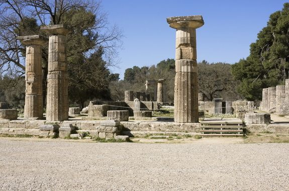 Temple of Hera, Olympia, Greece.