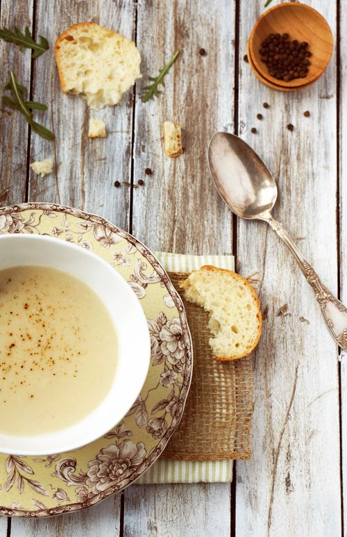 Apple parsnip soup -- would probably serve chilled on a warm day like today.
