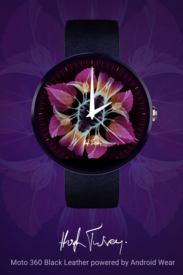 Xogram Watch Face for Android Wear. Make your Android Wear watch your own with the kaleidoscopic X-ray imagery of Hugh Turvey. Learn more at www.android.com/wear. Download the watch face at https://play.google.com/store/apps/details?id=wearable.android.breel.com.kaleidoscope.