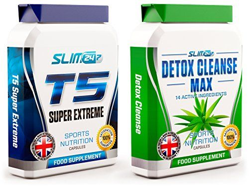Slim247 T5 FAT BURNERS x60   DETOX CLEANSE x60 - T5 Super Extreme Max Strength Thermogenic Fat Burner and Co No description (Barcode EAN = 5060357385682). http://www.comparestoreprices.co.uk/december-2016-6/slim247-t5-fat-burners-x60- -detox-cleanse-x60--t5-super-extreme-max-strength-thermogenic-fat-burner-and-co.asp