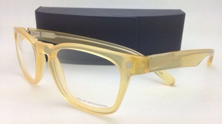 Glasses With Yellow Frame : Brand New OSCAR MAGNUSON Eyeglasses 8693 9211 52-20 140 ...