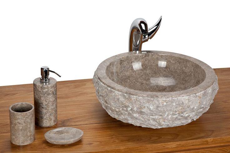 Wastafel Bowl Outside Full Marmo Color : Grey Size: Ø 35 cm X H. 15 cm Ø 40 cm X H. 15 cm Ø 45 cm X H. 15 cm