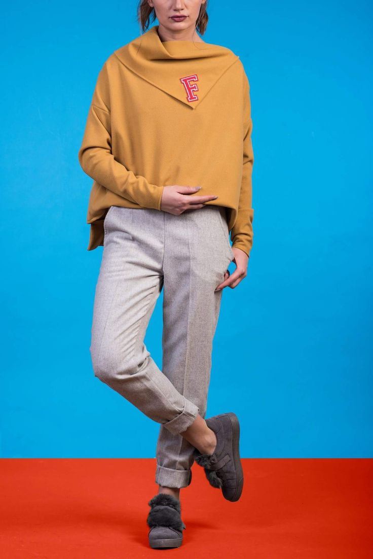 Yellow sport blouse, Casual street style