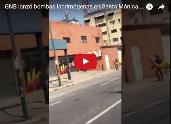 GNB ataca a manifestantes en Santa Mónica