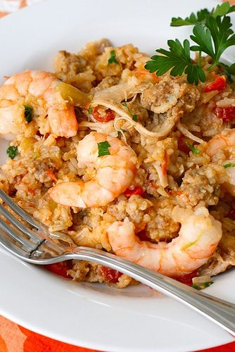 Chicken and Shrimp Jambalaya (GF) (onion, celery, red bell pepper ...