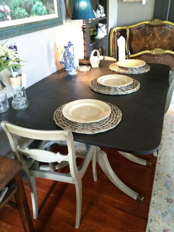 Duncan phyfe style table and chairs by shabbysheepvintage