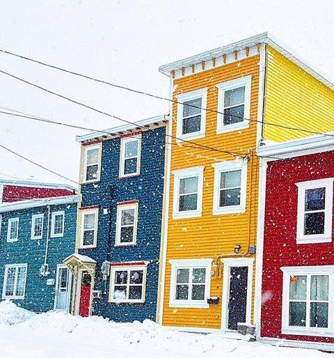 Jellybean Row, Georgetown, Newfoundland, Canada
