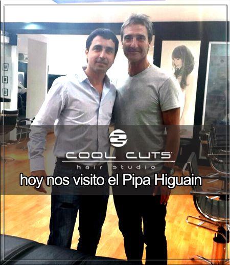 """Jorge """"Pipa"""" Higuain visito nuestros salon de Marcelo T. de Alvear 1217 y cambio su look con Alvaro."""