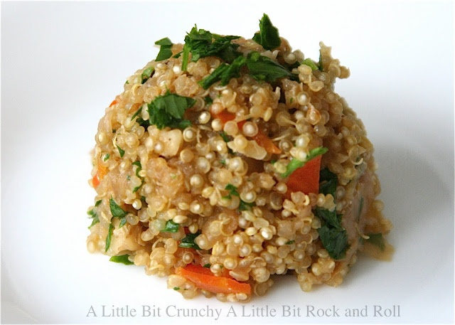 Quinoa with Caramelized Onions and Carrots  #vegetarian #salad: Rock N Roll, Fun Recipes, Bit Crunchy, Rock And Roll, Quinoa, Carrots, Rocks