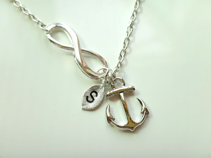 Personalized+Infinity+Anchor+Necklaceinfinity+by+LuluCherryJewelry,+$26.00