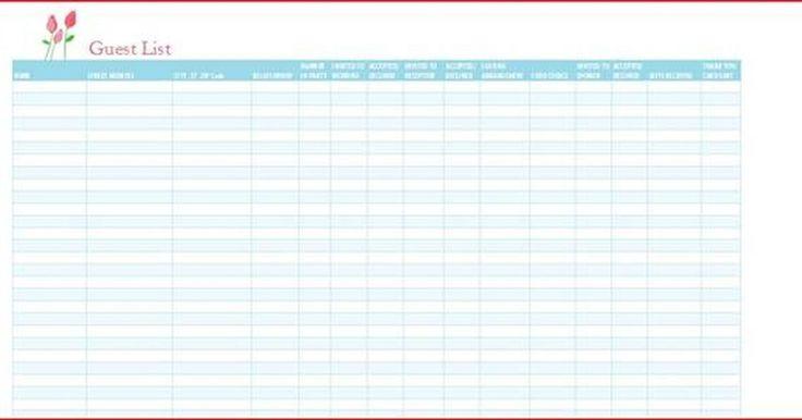 Cómo crear una lista de invitados en una plantilla de Excel. Si estás planificando una boda, una gala o cualquier otro evento importante, debes tener una lista de invitados. Esta lista te ayudará a controlar la información importante, como quién ha sido invitado, su relación con la persona a la que se rinde homenaje y cuántas personas irán a la fiesta. También puede funcionar como un lista SRC, con una ...