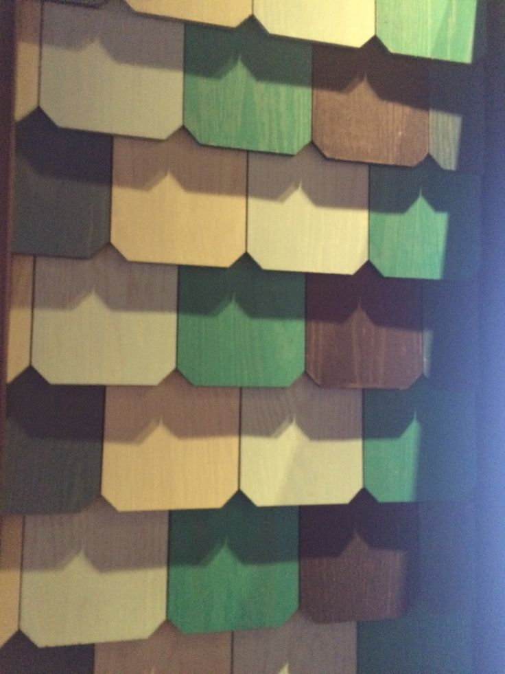 Painted wood cladding scalloped effect