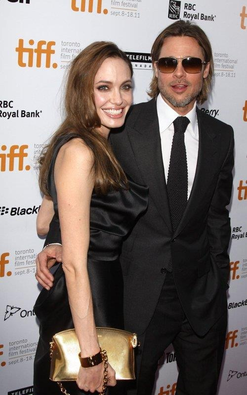 at tiff brad pitt and angilina jolie
