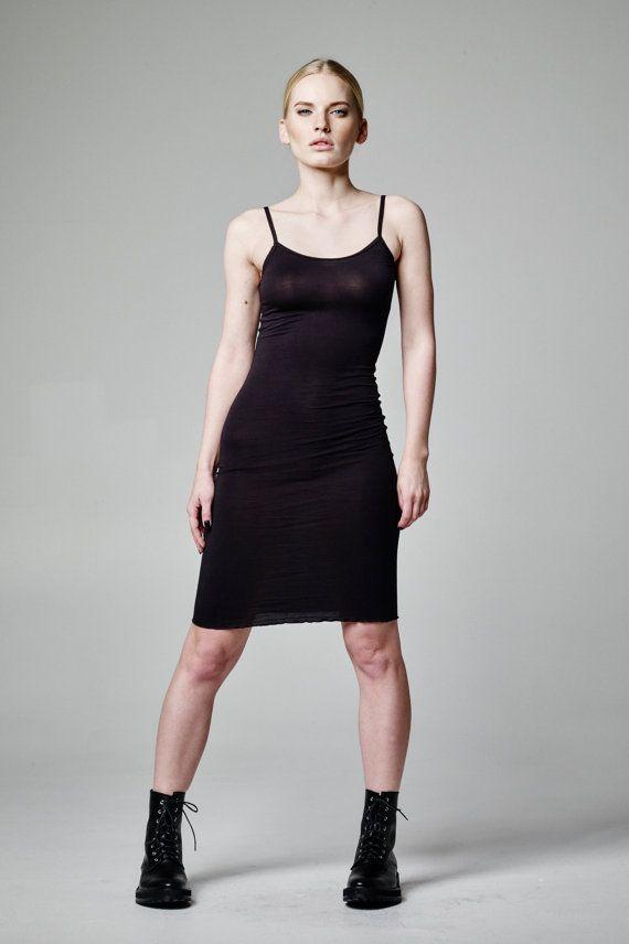 Lingerie Slip Dress, Plus Size Lingerie Dress, BDSM Slip Dress, Sexy Girlfriend Gift, Fetish Dress, Lounge Dress, Black Short Dress