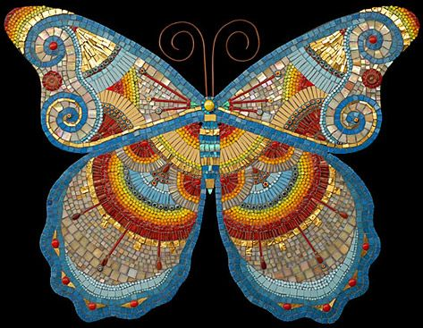 Butterfly Mosaic by Irinia Charney