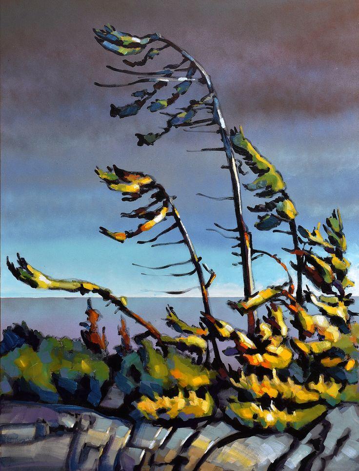 "Title:""Wind never stops"" by Jerzy Werbel www.werbeland.ca #landscape#canada#painting#art #contemporary#acrylic"