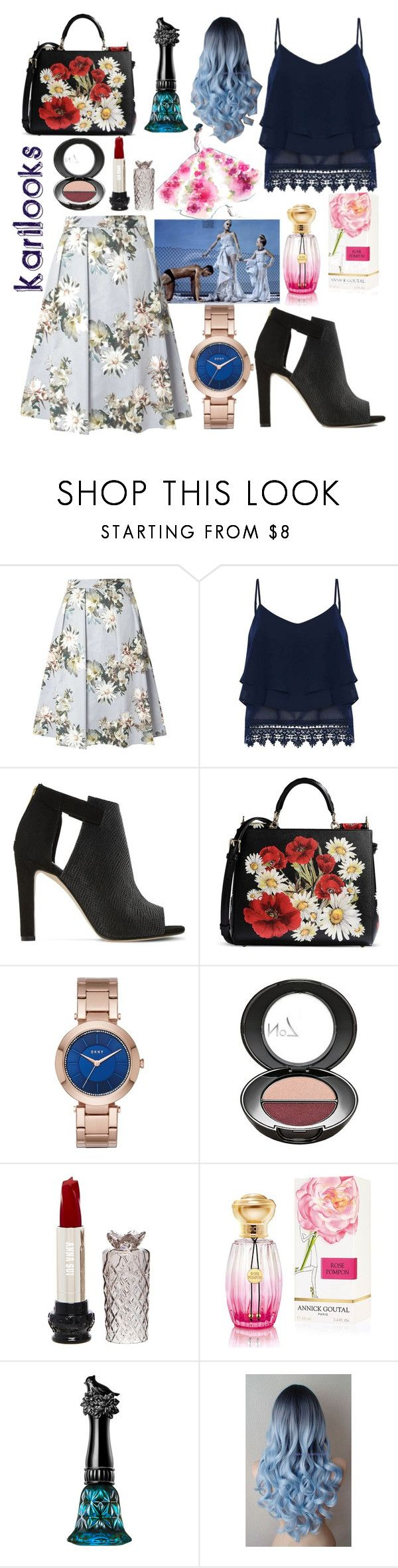 """""""Flowers... 🌼"""" by karilooks ❤ liked on Polyvore featuring Daphne, Dorothy Perkins, Dune, Dolce&Gabbana, DKNY, Boots No7, Anna Sui and Annick Goutal"""