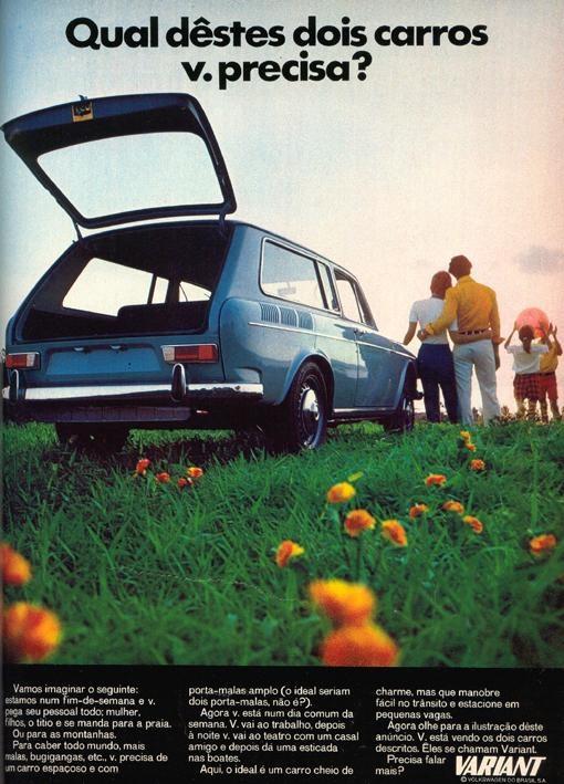 Propagandas antigas de carros: Variant