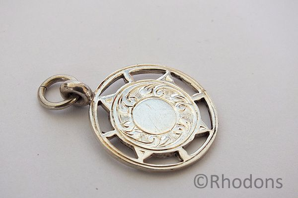 1930s Silver Pocket Watch Chain Fob
