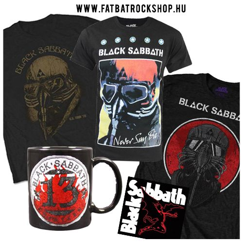 Black Sabbath pólók és egyéb cuccok