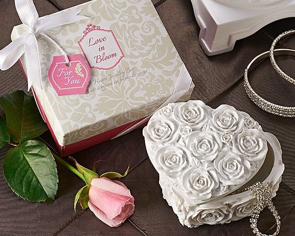 """Love in Bloom"" Heart Shaper Rose Jewelry & Trinket Box"