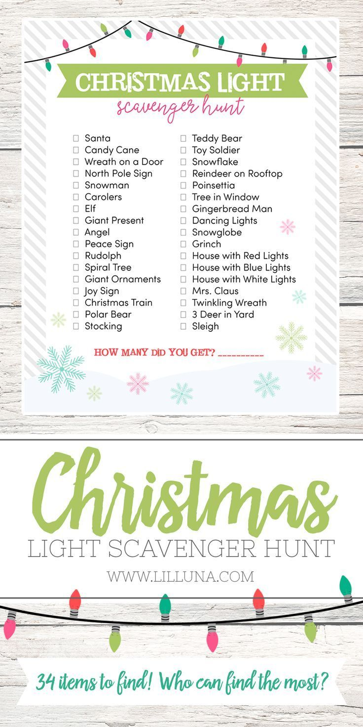 Spend time with your family on this fun Christmas Light Scavenger Hunt. Print it out and take your kids on a drive to find all of the awesome lights. Part of the Bake Craft Sew Series.
