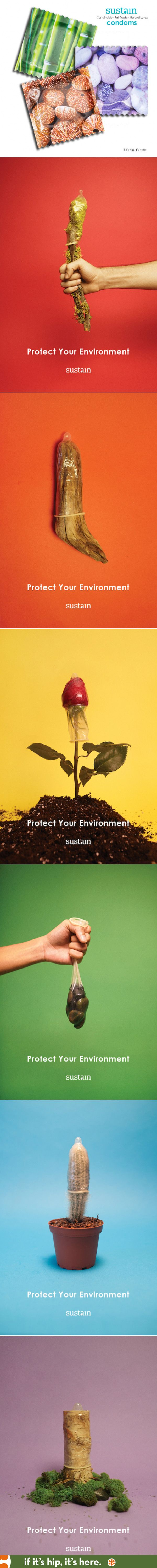 Sustain Condoms. A look at the new brand's ad campaign at http://www.ifitshipitshere.com/sustain-condoms-packaging-advertising/