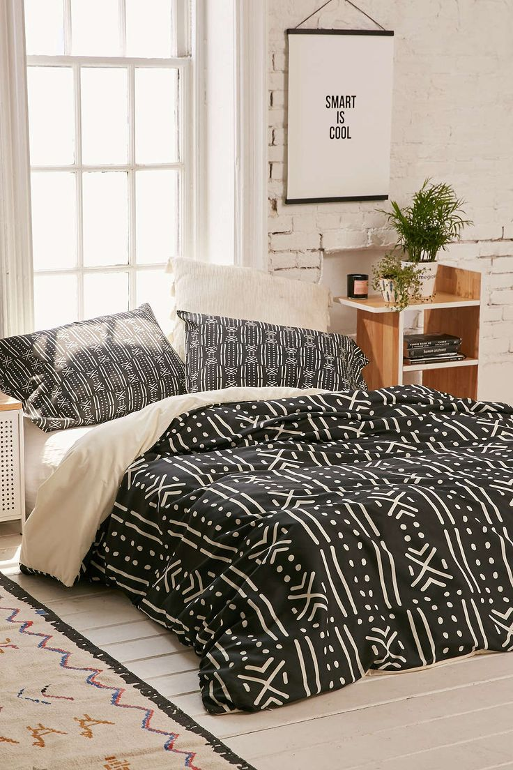 Holli Zollinger For DENY Black Mudcloth Duvet Cover - Urban Outfitters