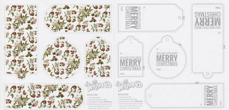 Wrapped Up, Gorgeous Garden White Gift Tags