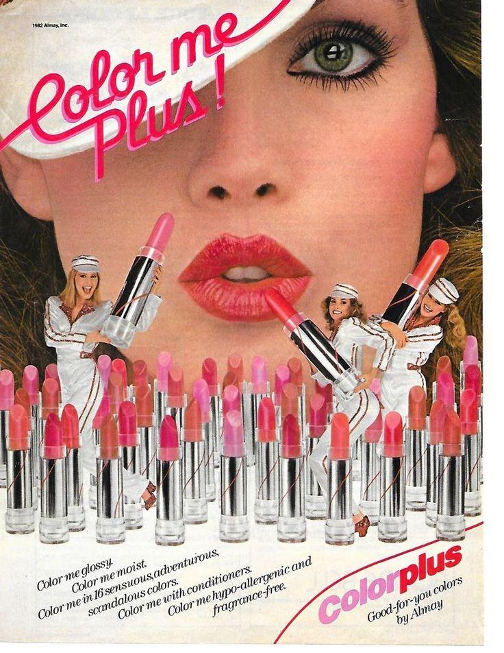 Vintage Almay Color Plus Lipstick Makeup Magazine Ad 1982 #Almay