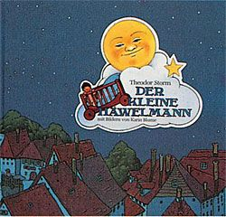 Der kleine Häwelmann Autor: Theodor Storm Illustratorin: Karin Blume, 2006, Coppenrath-Verlag Märchen, Fabel, Sagen, ISBN/ASIN: 3815742684 Nachts sollen Kinder eigentlich schlafen, aber der kleine Häwelmann denkt nicht mal im Traum daran. Er liegt in seinem Rollbettchen und ist glockenwach. Seine Mutter schläft und hört sein Rufen nicht. Da macht der kleine Häwelmann aus seinem Hemd ein Segel.
