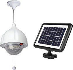 MicroSolar Super Bright – Lithium Battery – 60 LED Solar Shed Light – Power Adjustable