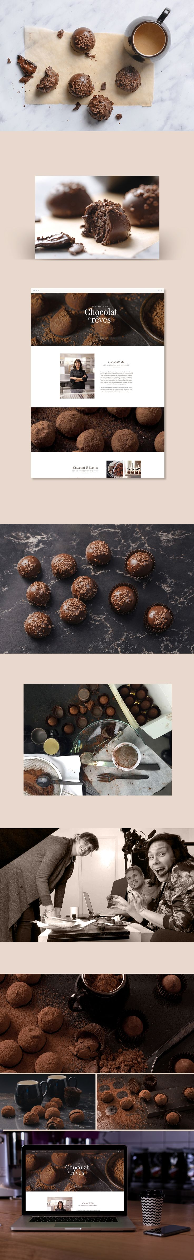 We strive to create original high quality content for our users. That means that we create a lot of photoshoots for our templates. This photoshoot was created for chocolatier template.