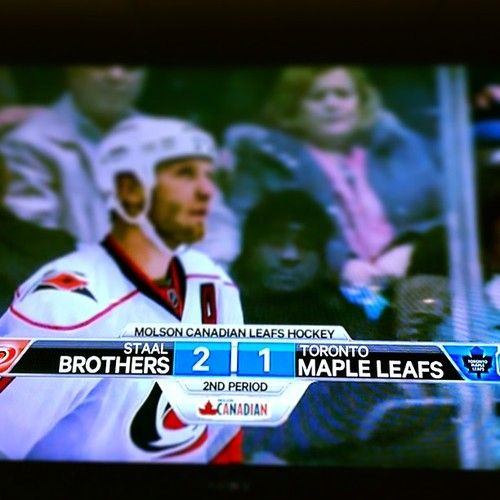 staal brothers vs toronto maple leafs