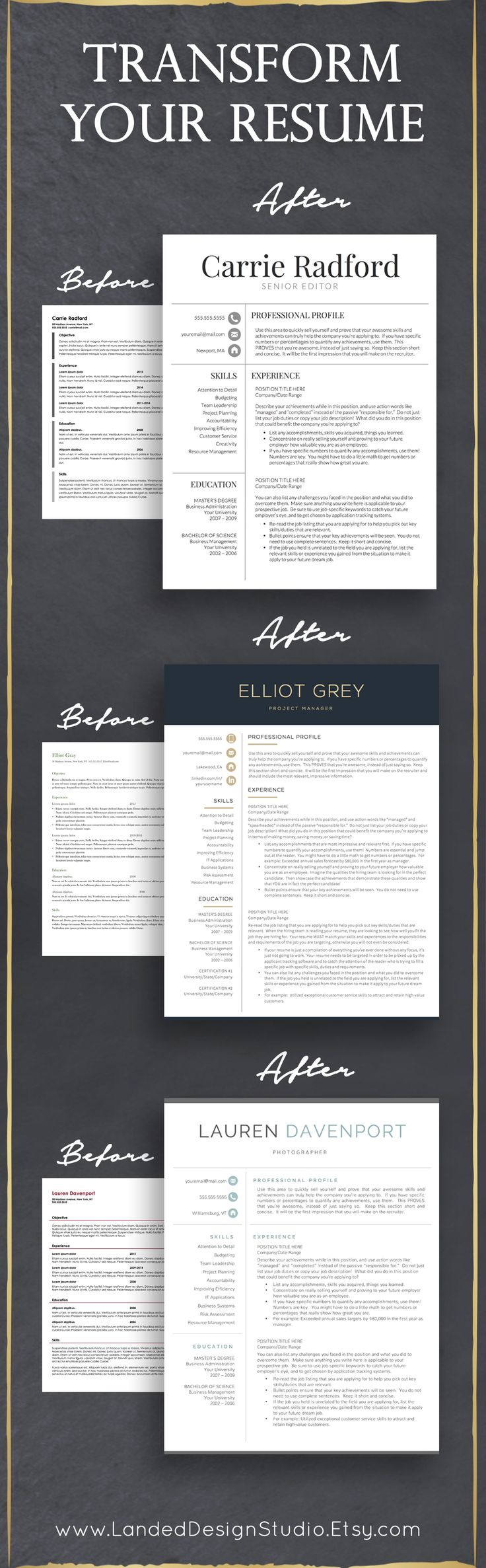 Completely transform your resume with just a