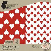 Hearts #1 Paper Maker Pack $2.00