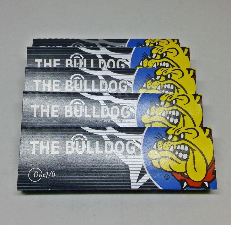 Bulldog Amsterdam Black 1 1/4 Hemp Rolling Papers - Lot Of 5 Packs