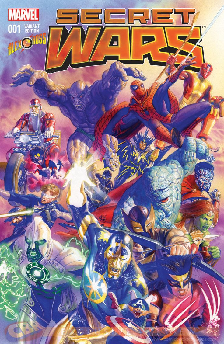 """Images for : EXCLUSIVE: Alex Ross Homages Original """"Secret Wars"""" in New Variant - Comic Book Resources"""