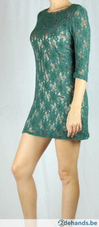 Groen-gouden kanten jurk van Rinascimento - Maat large