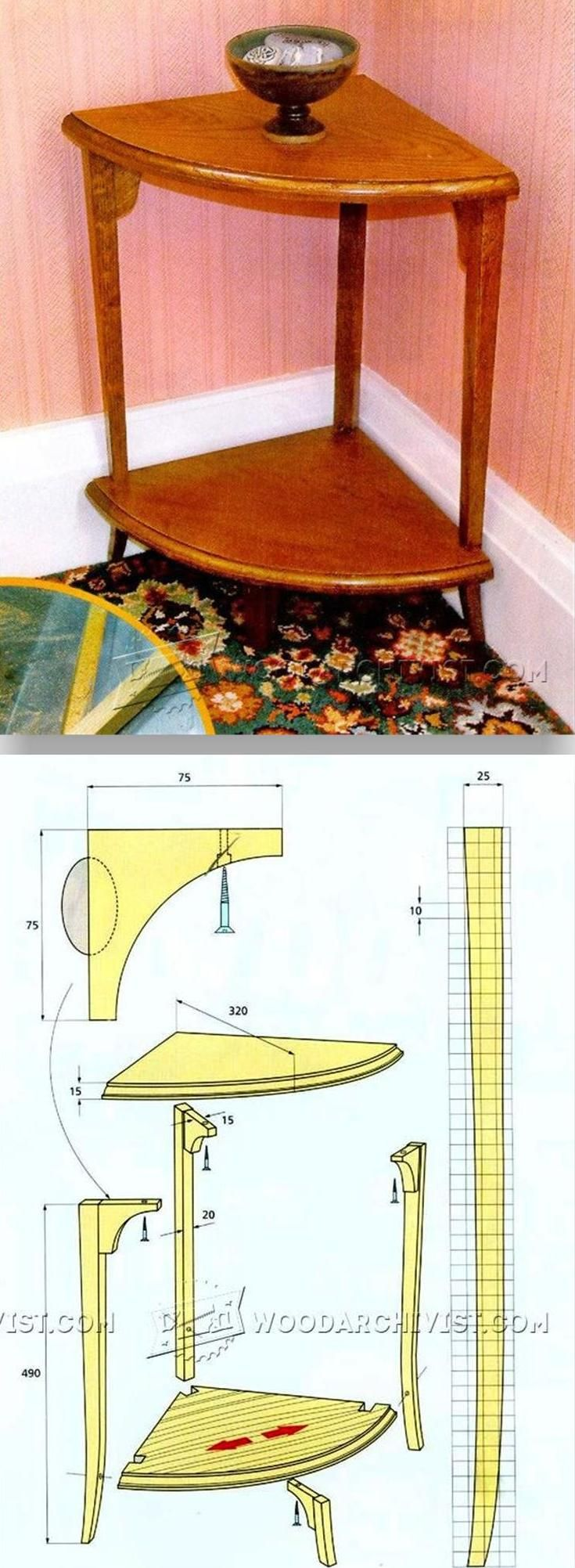Corner Whatnot Plans - Furniture Plans and Projects | WoodArchivist.com