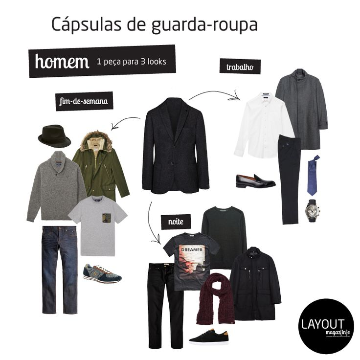 Cápsula Guarda-Roupa: 1 Blazer = 3 Looks.  www.layout.com.pt/magazine | www.facebook.com/Layout.ImageManagement