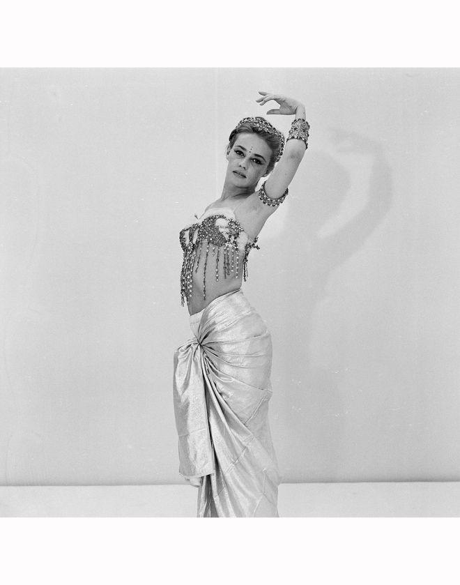 24_Jeanne Moreau Poses In Studio In Mata Hari 1962, Jack Garofalo, costumes by Pierre Cardin