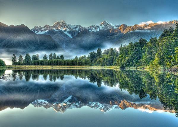 Beautiful Reflection Shots in Lake Matheson: Mirror Lakes, New Zealand Photography, Matheson Reflections, Reflections Shots, Lakes Matheson 5600 428, Beauty Reflections, Jigsaw Puzzles, Beauty Scenery, Lakes Matheson South