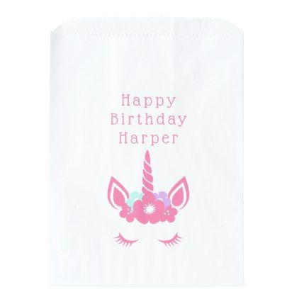 Happy Birthday | Magical Unicorn Favor Bag - unicorn birthday diy gift idea present unicorns customize