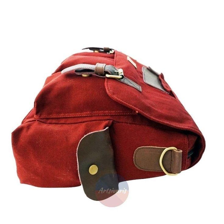 Stylish Vintage Canvas Messenger Laptop Satchel Travel Casual School Book Bag   eBay